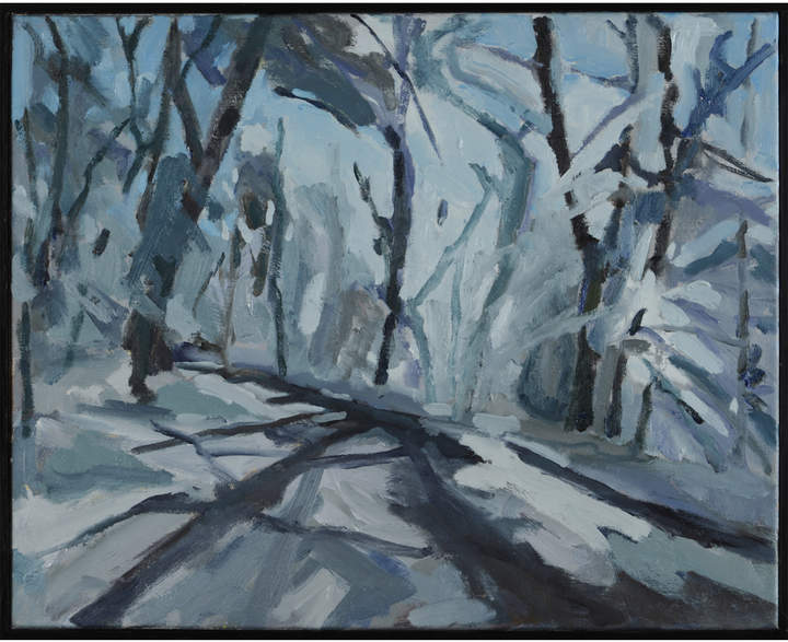 """Snowy Road, Solebury Township"" by Nancy Tart"