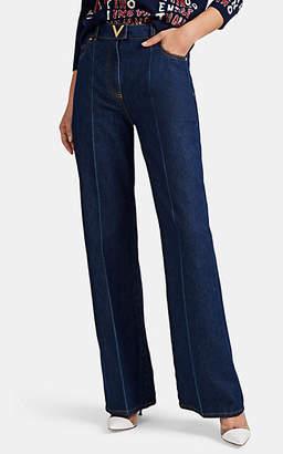 06aa7ff4f Valentino Women's Denim Wide-Leg Pants - Blue