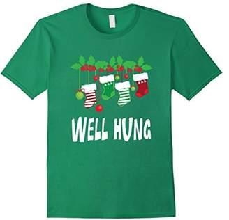 'Funny Well Hung ' Funny Christmas Santa Sock Shirt