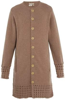 BY WALID Long-line cashmere cardigan