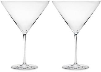 One Kings Lane Set of 2 Carat Large Martini Glasses - Clear