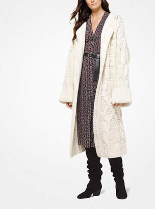 Michael Kors Cable-Knit Oversized Cardigan
