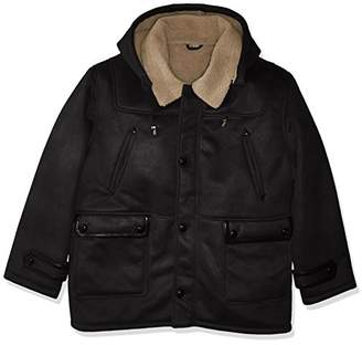 Excelled Men's Big Tall Faux Shearling Hooded Jacket