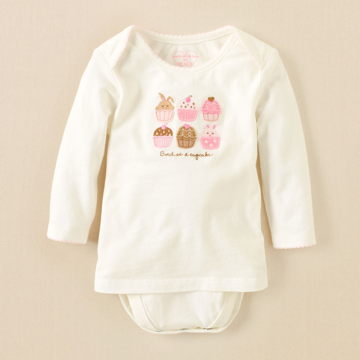 Children's Place 2-In-1 Cupcake Bodysuit
