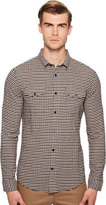Vince Men's Micro Plaid Western Long Sleeve Button Down