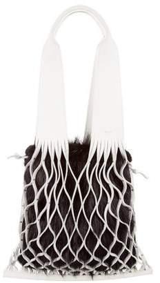Celine 2017 Medium Net Bag w/ Fur Underlay