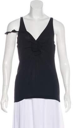 Dolce & Gabbana Rosette-Accented Silk Top