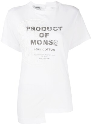 Monse logo asymmetric T-shirt