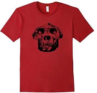 Fossil Gorilla Skeleton Head Skull T-Shirt Tee
