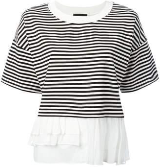 Moschino frill trim T-shirt