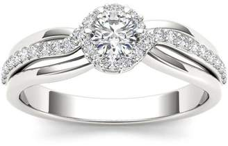 Imperial Diamond Imperial 1/2 Carat T.W. Diamond Single Halo 10kt White Gold Engagement Ring