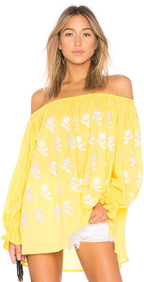 Eleven Paris by March 11 Flower Power Off The Shoulder Top