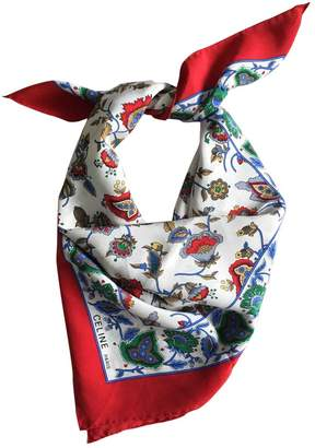 Celine Red Silk Silk handkerchief