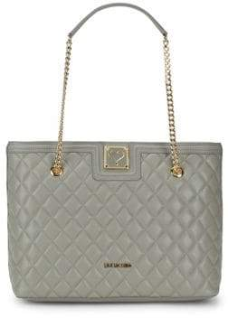 Love Moschino Quilted Chain Tote
