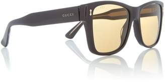 Black GG0052S rectangle sunglasses