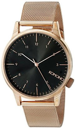 KOMONO Unisex KOM-W2354 Winston Royale Series Analog Display Japanese Quartz Rose Gold Watch $74.99 thestylecure.com