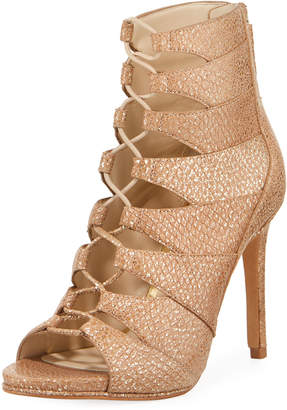 Kenneth Cole Barlow Metallic Leather Lace-Up Sandals