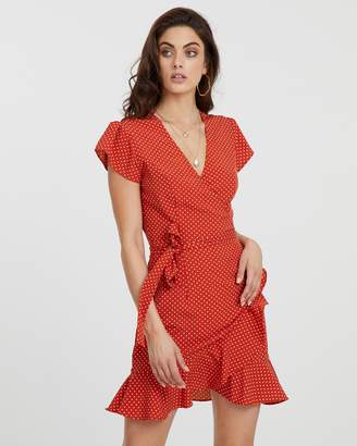 Atmos & Here ICONIC EXCLUSIVE - Polka Dot Wrap Dress