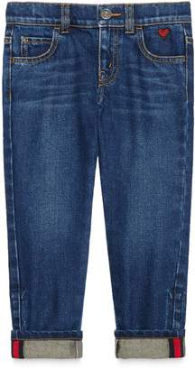 Gucci Children's denim pant with heart