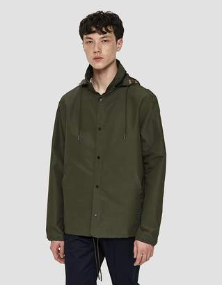 Herschel Hooded Coaches Jacket in Olive Camo