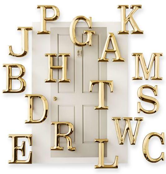 4-Inch Brass Initial Door Knocker