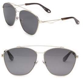 Givenchy 65MM Double-Bridge Aviator Sunglasses