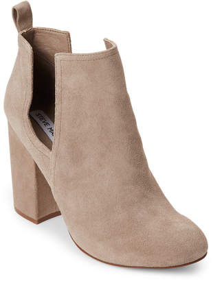 Steve Madden Taupe Naomi Suede Cutout Booties