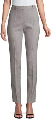 HUGO BOSS Slim-Fit Graphic Wool Blend Suiting Trousers