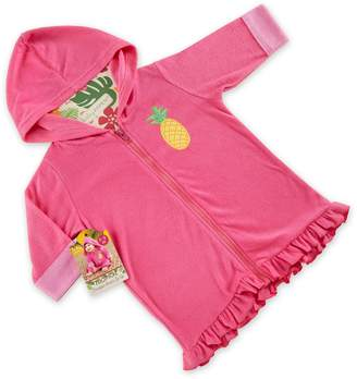Baby Aspen Baby Girl Pineapple Hooded Terry Cover-Up