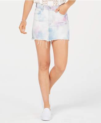 Hudson The Viper Cotton Tie-Dye Denim Skirt