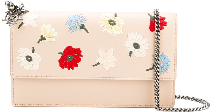 Alexander McQueen Alexander McQueen floral embroidered crossbody bag