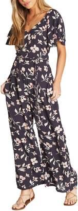54cf4536d33 Billabong Fluttering Heart Floral Print Jumpsuit