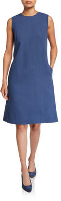 Lafayette 148 New York Morganna Nouveau Crepe Sleeveless Dress