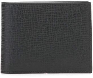 Jil Sander (ジル サンダー) - Jil Sander 型押しレザー カラーステッチ 二つ折り ウォレット ブラックxオレンジ u