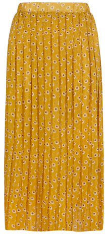 Dorothy Perkins Yellow floral pleated maxi