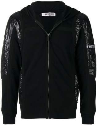 Dirk Bikkembergs panelled zip hoodie
