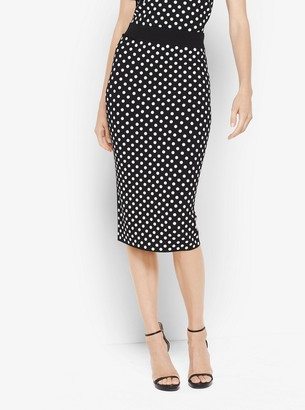Michael Kors Sequined Polka Dot Pencil Skirt