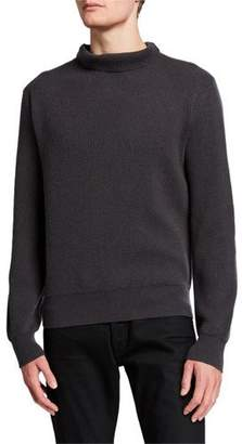 The Row Men's Daniel Textured Cashmere Turtleneck Sweater