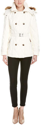 Cole Haan Diamond Quilted Peacoat