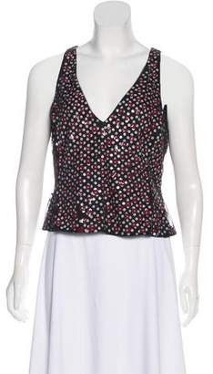 Armani Collezioni Sleeveless Embellished Top