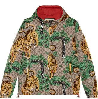 Gucci Bengal print nylon jacket $1,490 thestylecure.com