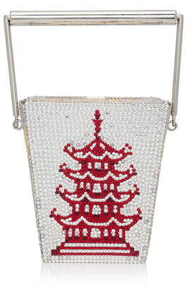 Judith Leiber Couture Take Out Box Crystal Embellished Clutch