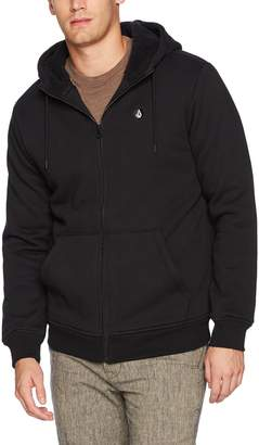 Volcom Men's Single Stone Lined Zip up Fleece