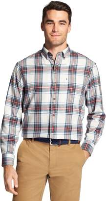 Izod Men's Classic-Fit Plaid Flannel Button-Down Shirt