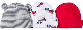 Gerber Newborn Baby Boy Assorted Caps, 3-Pack