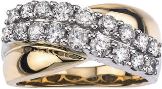JCPenney MODERN BRIDE 1-1/5 CT. T.W. Diamond 14K Two-Tone Gold Wedding Band