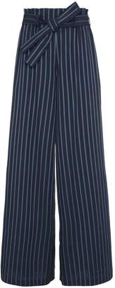 Osman Paloma Cotton Stripe Wide Leg Trousers