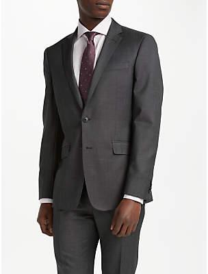 Richard James Mayfair Wool Pindot Slim Fit Suit Jacket, Charcoal