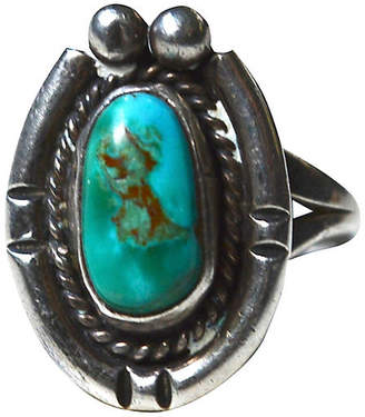 One Kings Lane Vintage 1940s Navajo-Style Turquoise Ring