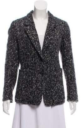 Saint Laurent Fur and Wool Blend Coat
